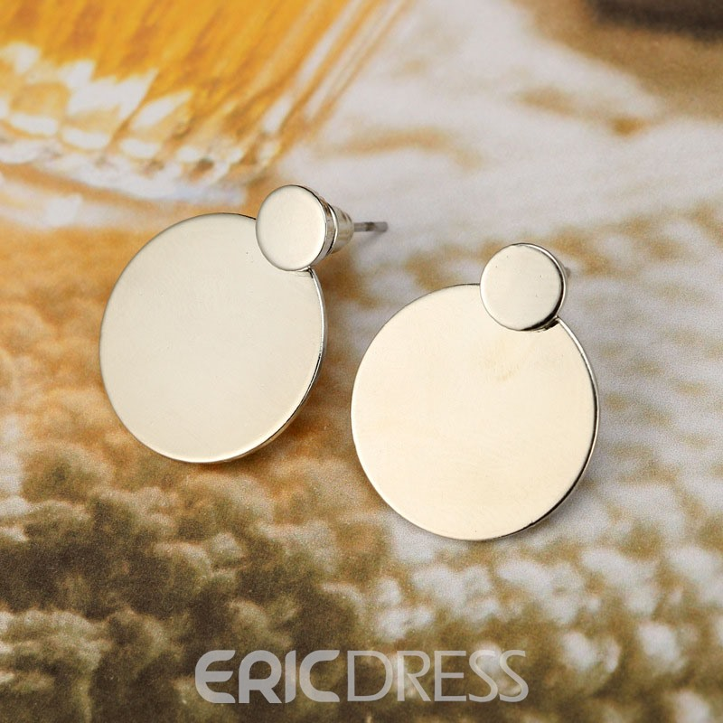 Ericdress minimalism Alloy Round Stud Earrings