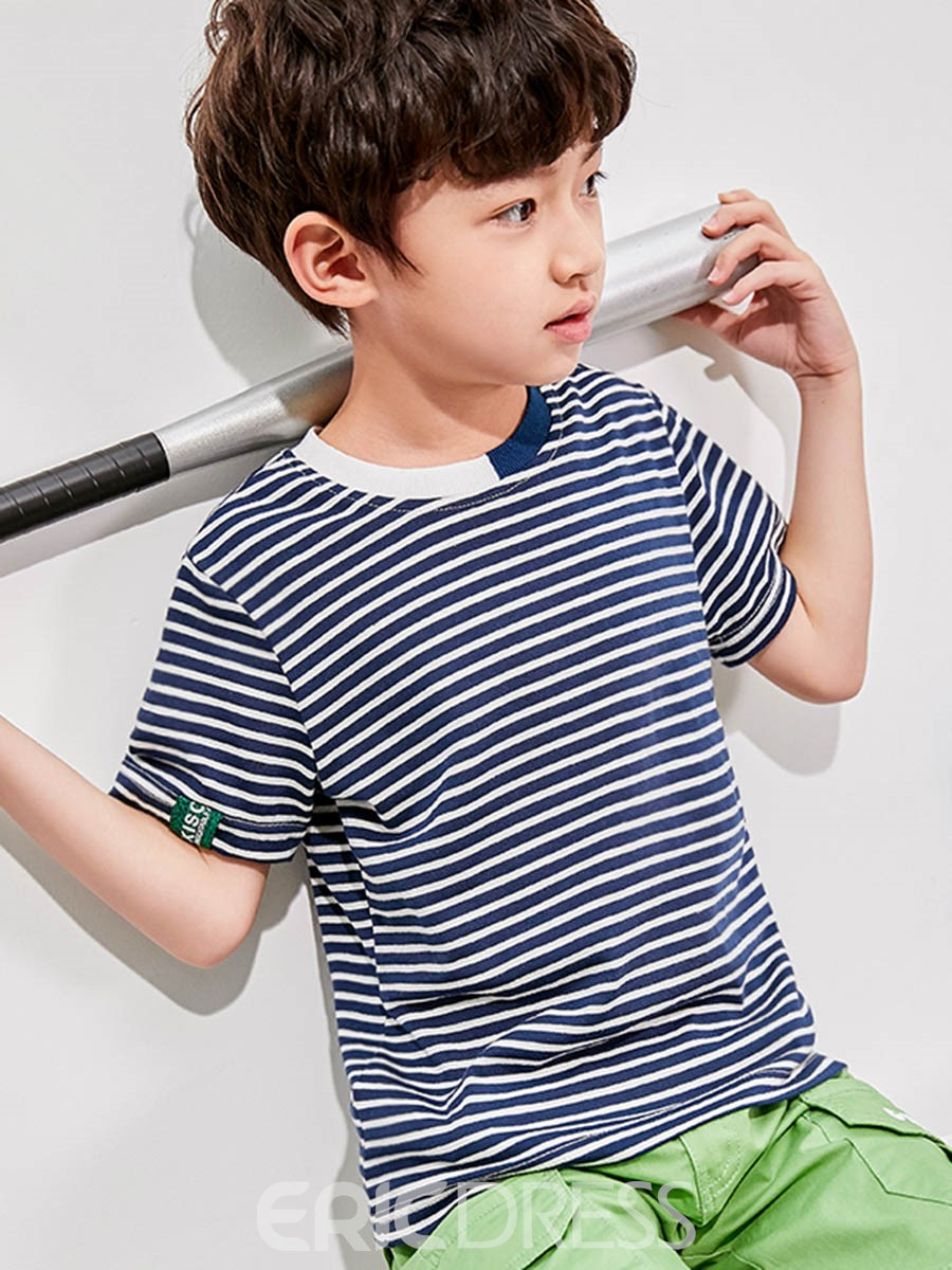 Ericdress Stripe Scoop Boy's Summer T Shirt