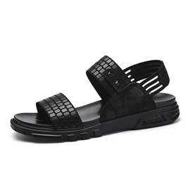 Ericdress Rivet Elastic Band Open Toe Men's Sandals