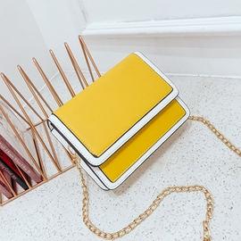 Ericdress Fresh Style Color Block Crossbody Bag
