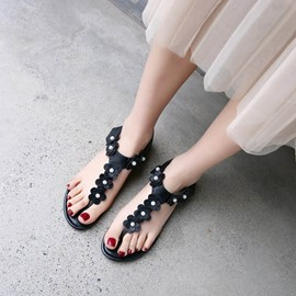 Ericdress Appliques Strappy Flat Sandals