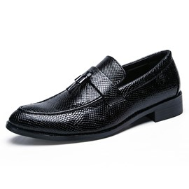Ericdress PU Fringe Slip-On Round Toe Men's Oxfords
