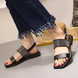 Ericdress Strappy Plain Flat Sandals
