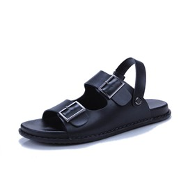 Ericdress Buckle Plain Slip-On Men's Sandals