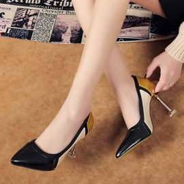 Ericdress Color Block Pointed Toe Stiletto Sandals