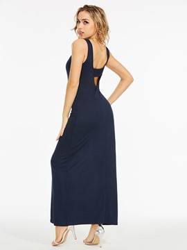 Ericdress V-Neck Hollow Backless Pullover Bodycon Dress