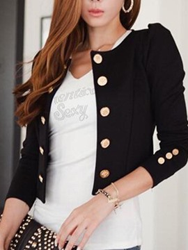 Ericdress Double-Breasted Plain Blazer