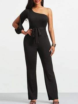 Ericdress Bowknot Slim Plain Women's Jumpsuit