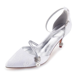 Ericdress Diamond Stiletto Heels Wedding Shoes with Beads