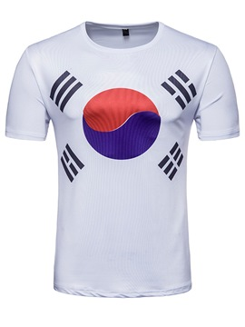 Men's Clothing White Print World Cup Designed T Shirt