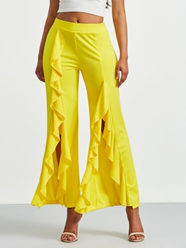 Ericdress Ruffles Wide Leg Women's Pants