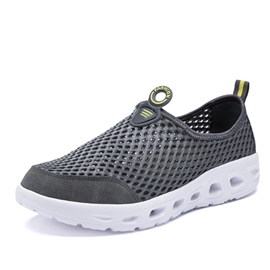 Ericdress Mesh Patchwork Slip-On Round Toe Men's Sneakers