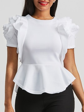 Women's Clothing Falbala Plain Scoop Top