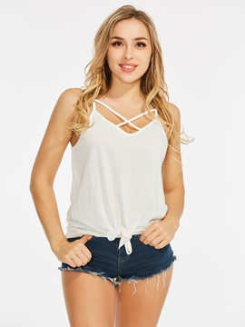 Ericdress Women's Lace-Up Spaghetti Straps Vest