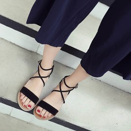 Ericdress Sewing Heel Covering Flat Sandals