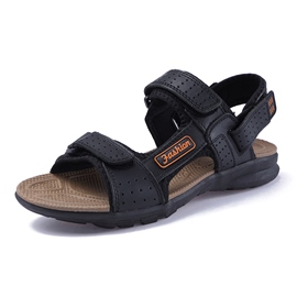 Ericdress PU Velcro Open Toe Low-Cut Men's Sandals