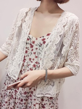 Ericdress Thin Lace Solid Color Cape