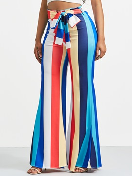 Ericdress Color Block Striped Women's Pants