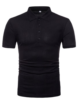Ericdress Back Printed Plain Loose Mens Polo T Shirts