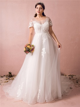 Ericdress A Line Plus Size Wedding Dress