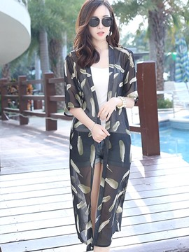 Ericdress Feather Wrap Chiffon Cape