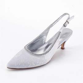Ericdress Rhinestone Slingback Strap Stiletto Heels Wedding Shoes