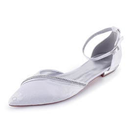Ericdress Rhinestone Line-Style Buckle Pointed Toe Wedding Shoes