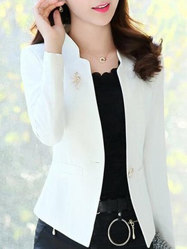 Ericdress OL Plain Slim Long Sleeve Blazer