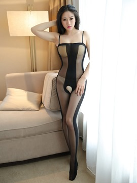 ericdress stripe spaghetti sangle collants sexy corps bas