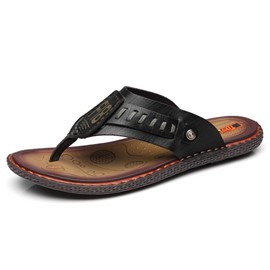 Ericdress PU Sewing Thong Slip-On Men's Sandals