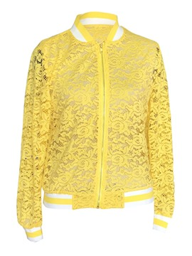 Ericdress Women's Lace Patchwork Jacket