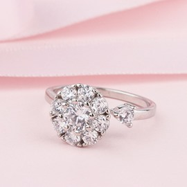 Ericdress Rotate Imitation Diamond Wedding Ring