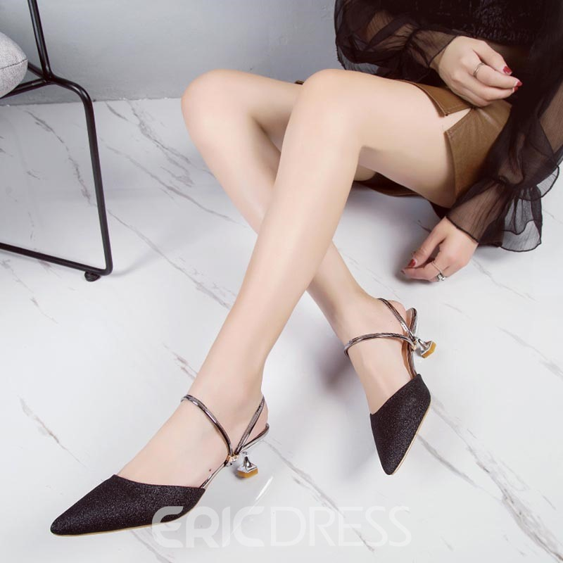 Ericdress Slip-On Ankle Strap Closed Toe Stiletto Sandals