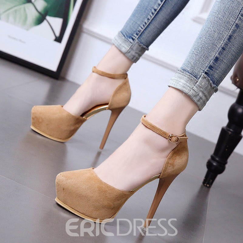 Ericdress Platform Round Toe Stiletto Heel Pumps