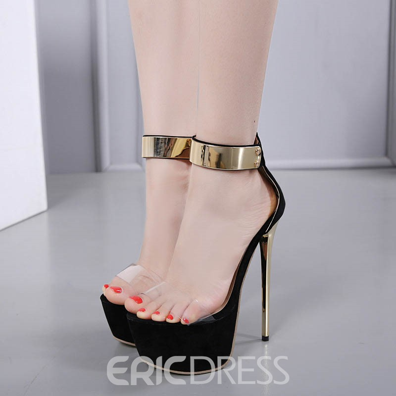 Ericdress Sequin Patchwork Platform Stiletto Sandals