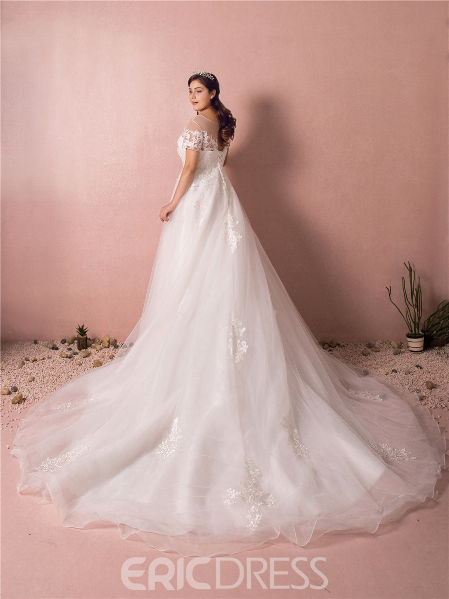Ericdress A Line Plus Size Wedding Dress 13266919 - Ericdress.com