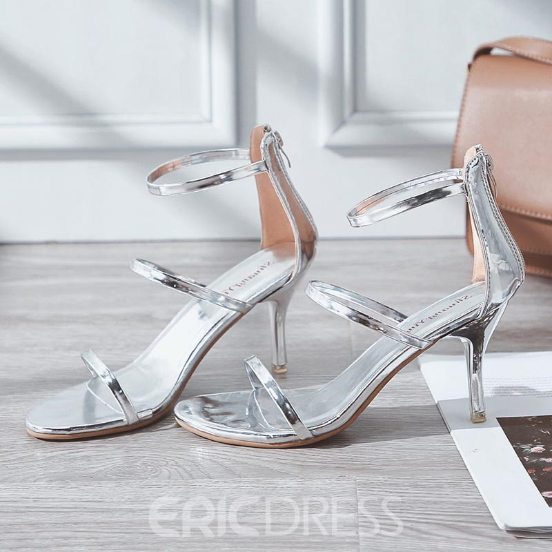Ericdress Fashion Heel Covering Open Toe Stiletto Sandals