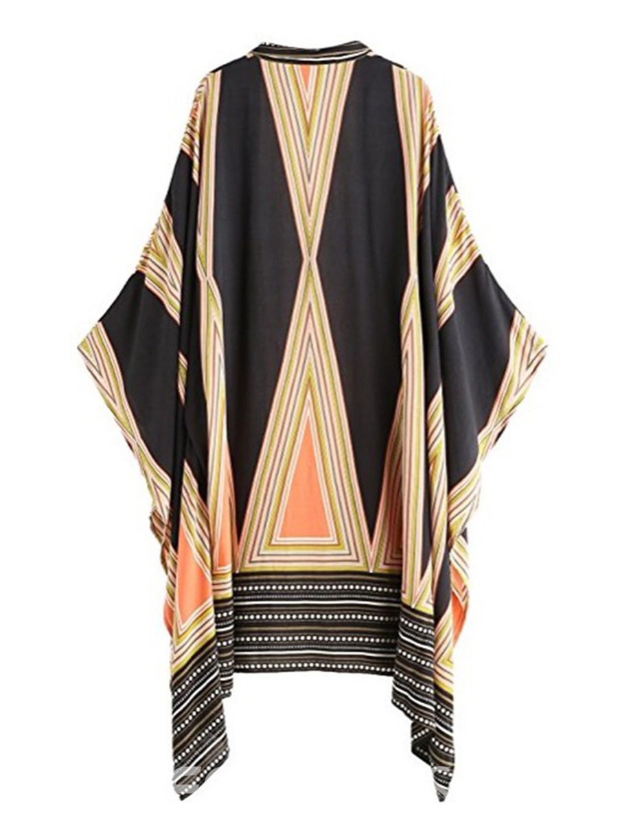 Ericdress Batwing Sleeve Long Sleeves Mid-Length Beach Cover Ups
