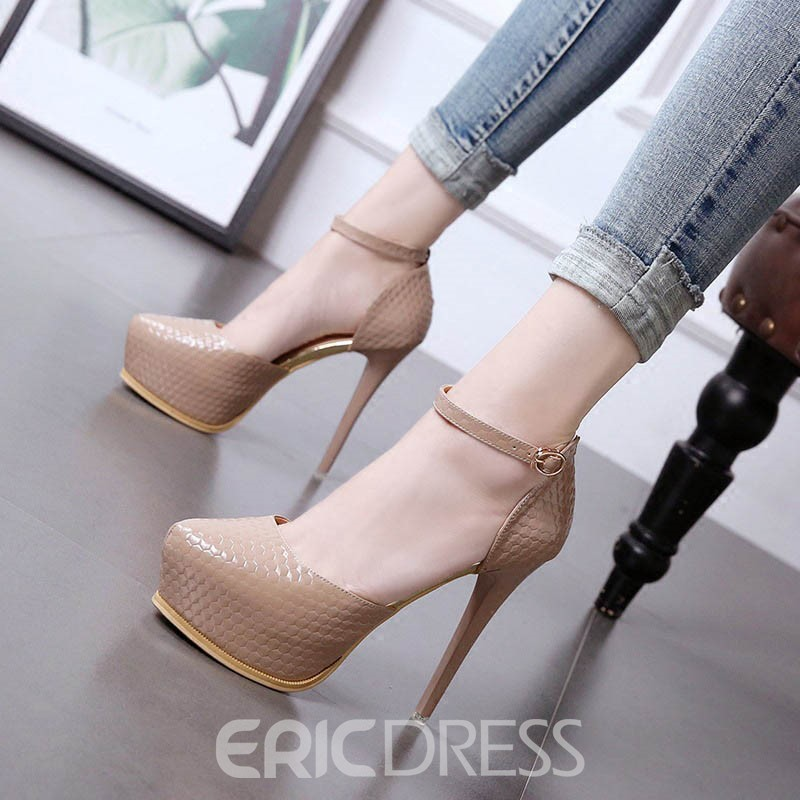 Ericdress Line-Style Buckle Platform Stiletto Sandals