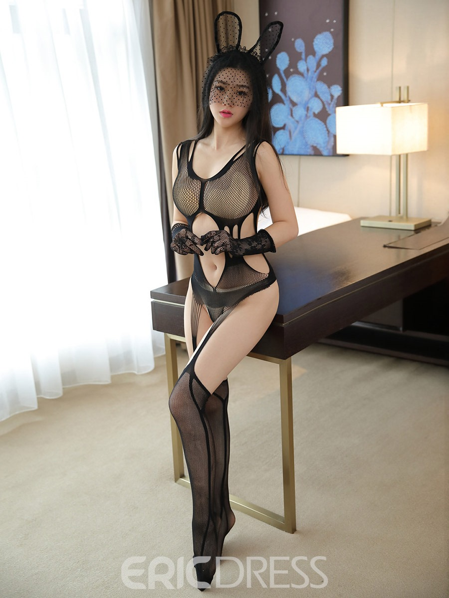 Ericdress Fishnet Hollow See-Through Sexy Pantyhose Body Stocking
