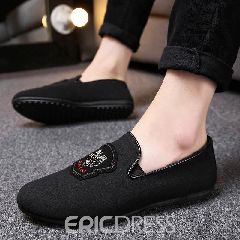 Ericdress Round Toe Slip-On Men's Casual Shoes