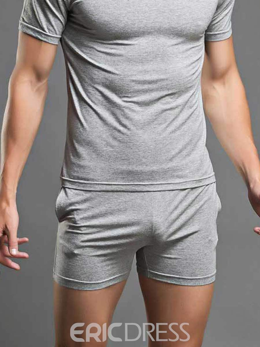 Ericdress Plain Double Side Pockets Modal Boxer Briefs for Men