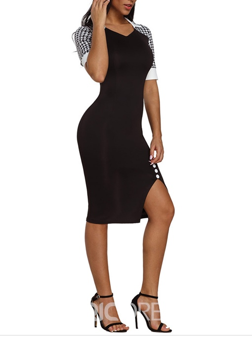 Ericdress Short Sleeves Pullover Simple Sexy Bodycon Dress