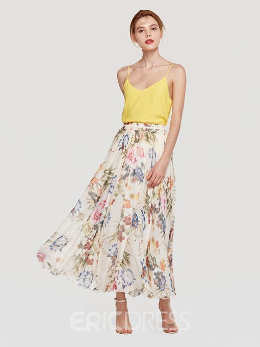 Ericdress Floral Ankle-Length Women's Skirt