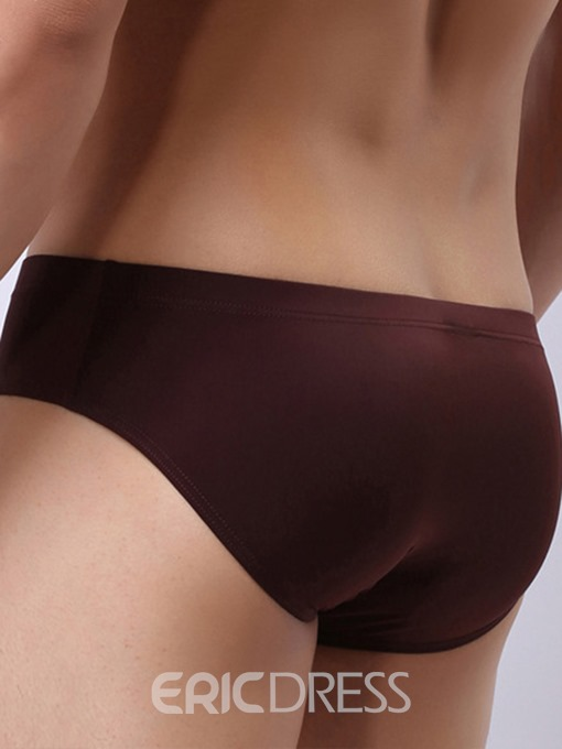 Ericdress Sexy Seamless Thin Soft Ice Silk Men's Briefs
