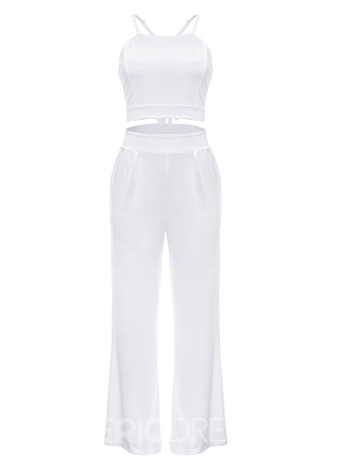 Ericdress Strap Vest and Pants Women's Two Piece Set