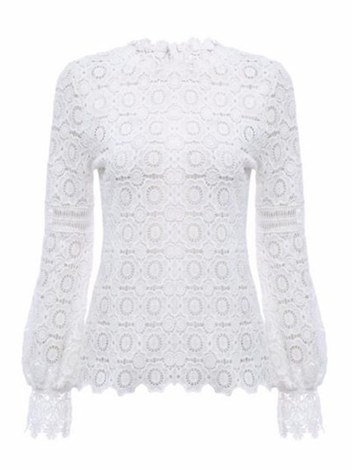 Ericdress Slim Lace Pullover Fashion Blouse
