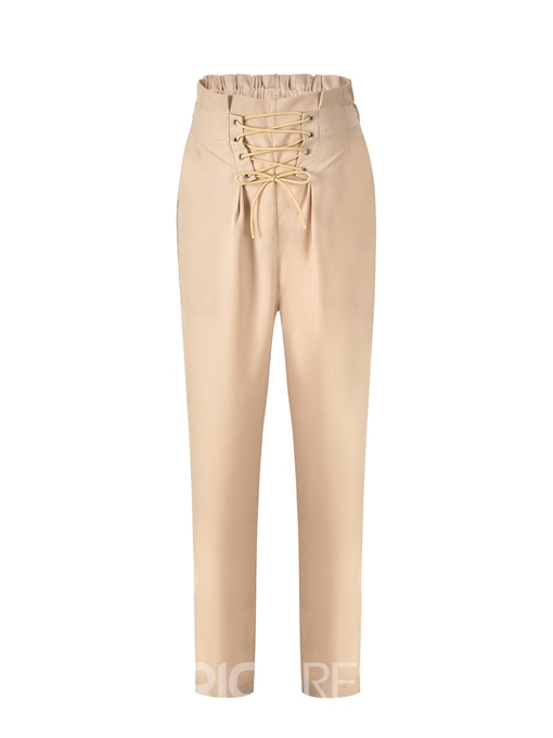 Ericdress Lace-Up Ankle Length Women's Pants