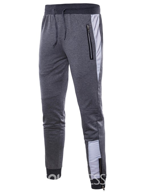 Ericdress Lace Up Color Block Mens Loose Sports Pants