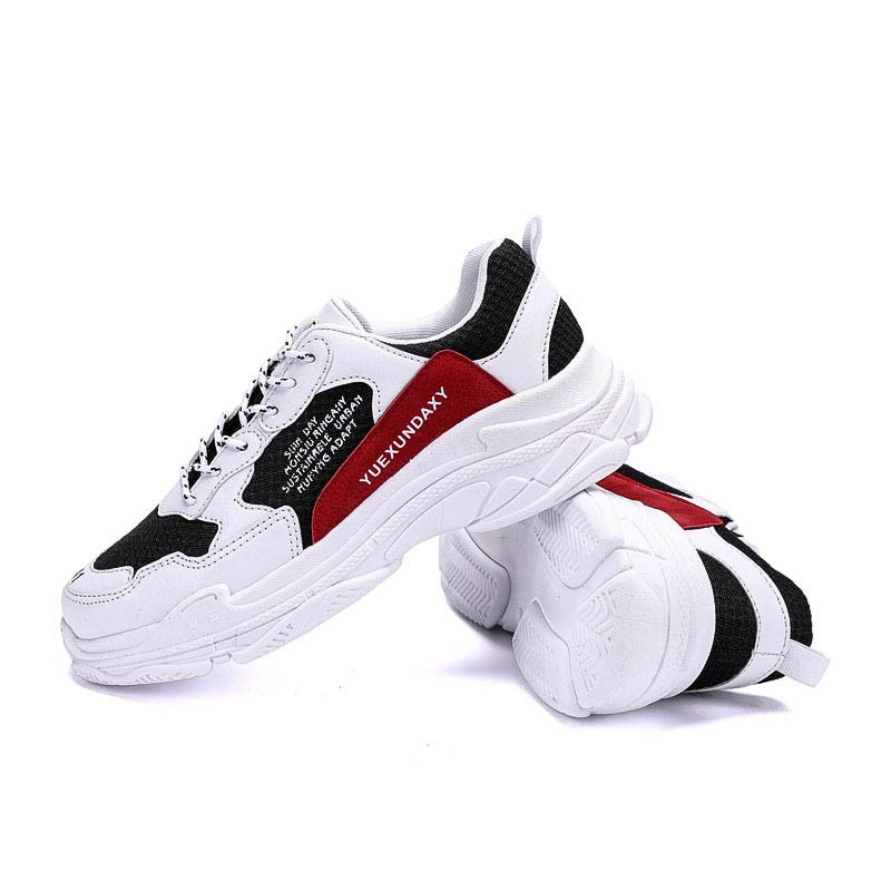Ericdress Mesh Patchwork Lace-Up Round Toe Men's Sneakers